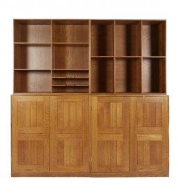 Modular Bookcase Cabinets by Mogens Koch