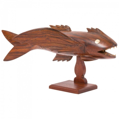 "Pitcairn Island ""Mutiny on the Bounty"" Hand Carved Flying Fish"