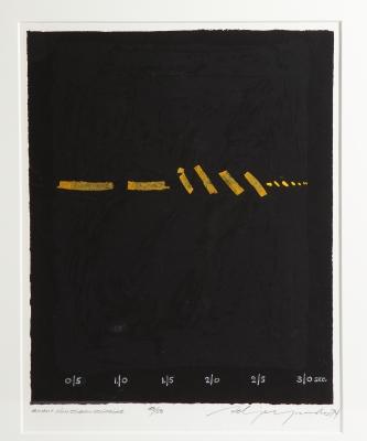 """Adja Yunkers Lithograph """"Shant D'un Oiseau Solitaire"""" 50/50"""