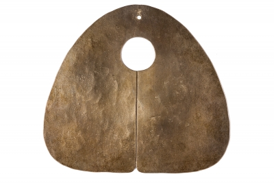 Harry Bertoia Hand-Hammered Silver Gong Pendant