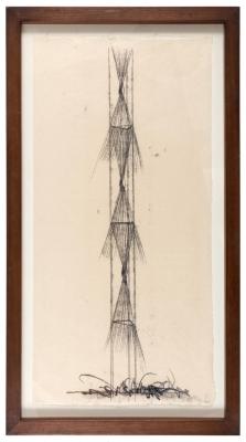 Harry Bertoia Monotype on Rice Paper