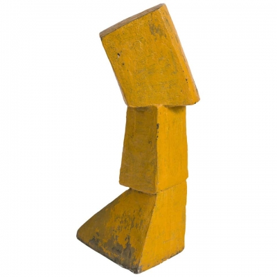 Bent Sorensen Abstract Yellow Ceramic Sculpture