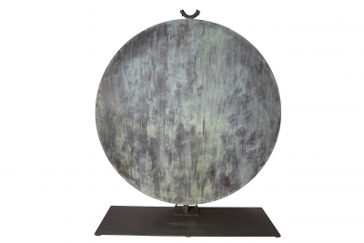 Monumental Hollow Copper Gong by Harry Bertoia