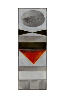 """Roger Capron """"Glazed Lava"""" Ceramic Tile Panel"""