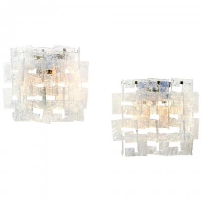 Mazzega Murano Glass Sconces