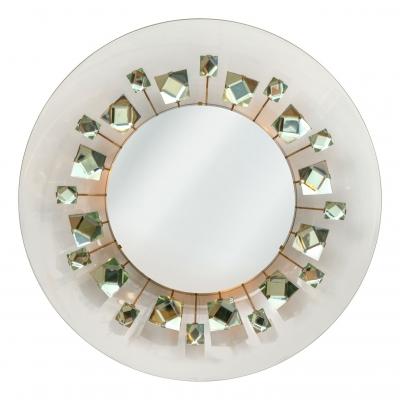 Ghiro Studios Backlit Chisel Cut Glass Mirror