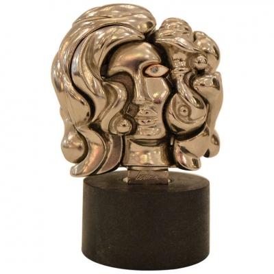 """Miguel Berrocal """"Portrait de Michèle"""" Puzzle Sculpture"""
