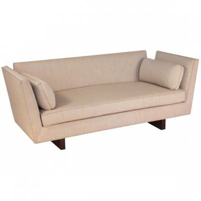 Dunbar Style Open-Arm Settee by Lost City Arts