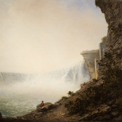 Rembrandt Peale (1778–1860), Niagara Falls from the Canadian Side, Table Rock, 1831, oil on canvas, 18 1/4 x 24 1/4 in. (detail)