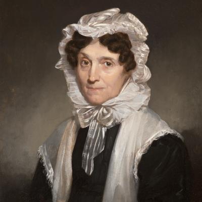 Samuel F. B. Morse (1791–1872), Mrs. Mary Fuller, 1829, oil on board, 11 x 9 in. (detail)