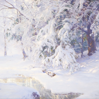 Walter Launt Palmer (1854–1932) Winter Sunrise, 1913. Oil on canvas. 24 x 32 in. (detail)