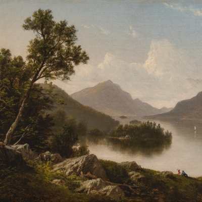David Johnson (1827–1908) Lake George, c. 1875. Oil on canvas. 10 x 16 in. (detail)