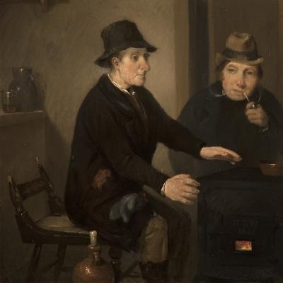 Richard Caton Woodville (1825–1855), Scene in a Bar-Room, 1845, oil on panel, 8 1/2 x 6 3/4 in. (detail))