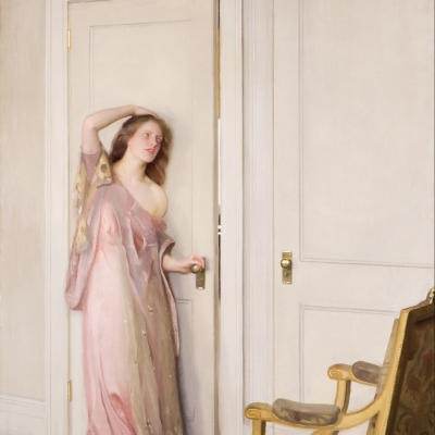 William Paxton (1869–1941), The Other Door, 1917, oil on canvas, 40 1/8 x 30 1/2 in. (detail)