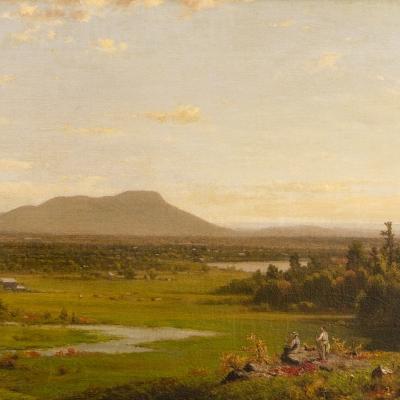 Richard William Hubbard (1816–1888), Landscape, 1870, 13 1/2 x 24 in. (detail)
