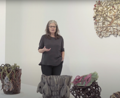Valerie Hegarty and artwork