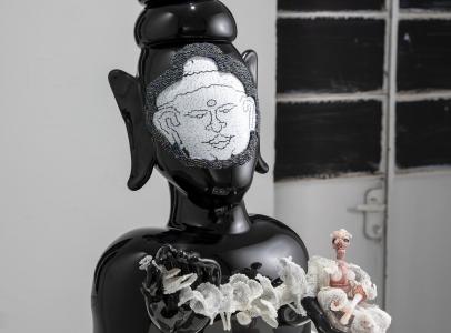 Joyce J. Scott at Glasstress Boca Raton 2021