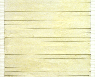 """Agnes Martin """"Untitled"""", 1979 pencil, ink and watercolor on paper 10 1/2 x 10 1/2 inches (26.7 x 26.7 cm)"""