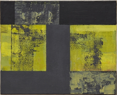 """Helmut Federle """"Basics on Composition XXI (For Lee Harvey Oswald)"""", 1992 oil on canvas 15 3/4 x 19 5/8 inches (40.0 x 50.0 cm)"""