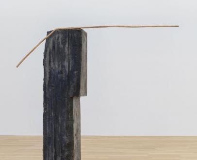 "Esther Kläs ""Spring (Ocean Blue)"", 2019 oil stick on paper 42 7/8 x 62 5/8 inches (109 x 159 cm)"
