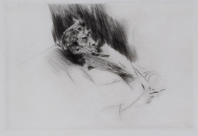 Giovanni Boldini, Whistler Asleep Upon a Sofa