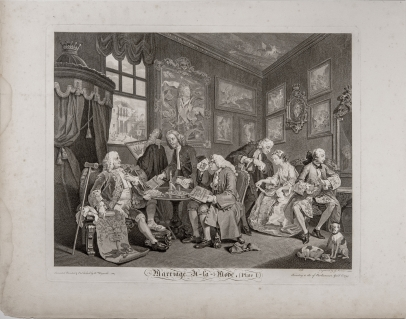Marriage à la Mode, the complete set of six etchings and engravings