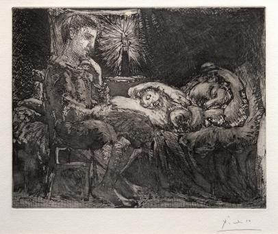 Garcon et Dormeuse à la Chandelle