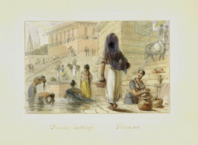 Females Bathing, Benares