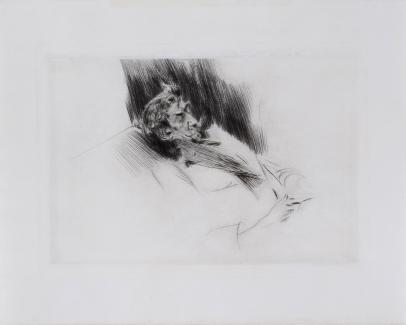 Whistler Asleep Upon a Sofa