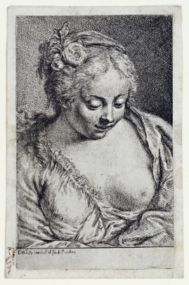 A Barebreasted Young Woman