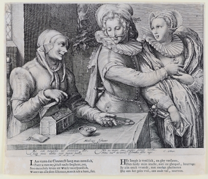 Old Woman with a Young Couple