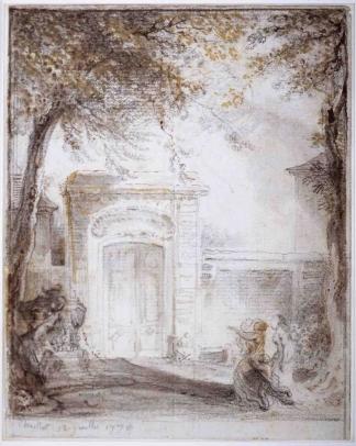 Porte d'Hôtel et Monument Funéraire à Chaillot