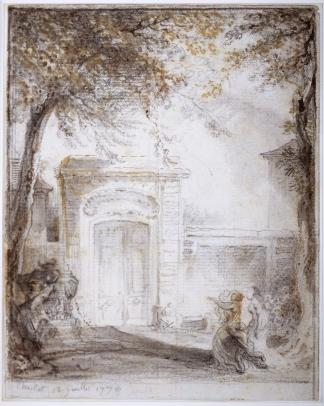 Saint-Aubin, Porte d'Hôtel et Monument Funéraire à Chaillot