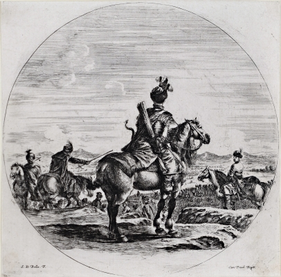 A Polish Horseman Seen From the Back