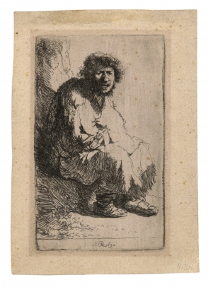 Rembrandt, Beggar Seated on a Bank