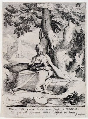 The Virgin with the Child Seated Under a Tree
