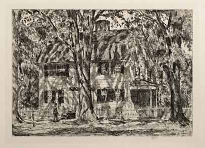 Childe Hassam, The Lion Gardiner House, East Hampton