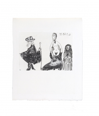 Jeune Fille, Célestine et Petit-Maître