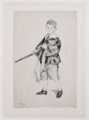Édouard Manet, Boy with a Sword (Turned Left)