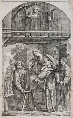 The Return of the Holy Family from Egypt; The Holy Family Arriving at an Inn