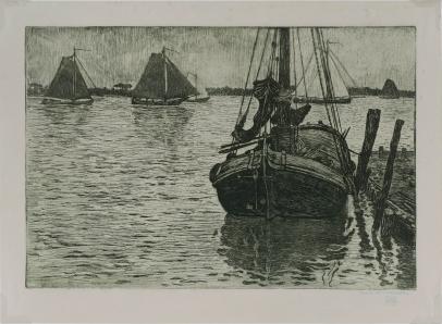 Bateaux dans la Pluie