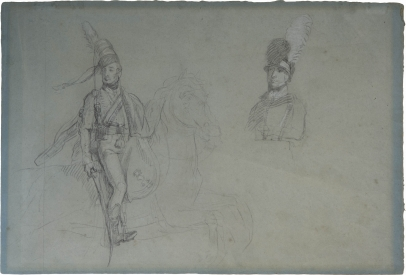 "Prince Regent, Study for ""Battle of the Pyrenees"""
