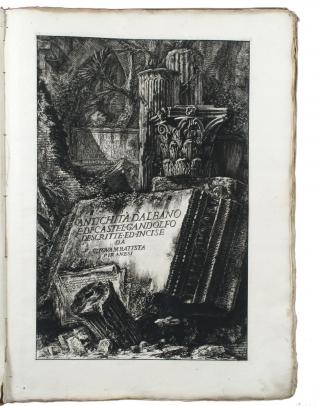 Antichità d'Albano e di Castel Gandolfo; Descrizione...dell'Emissario del Lago Albano; Di due spelonche ornate dagli antichi alla Riva del Lago Albano