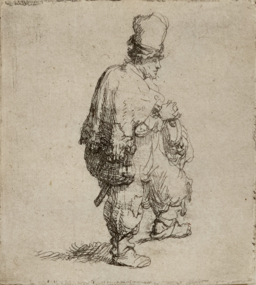 A Standing Hurdy-Gurdy Player (Polander Standing with Arms Folded)