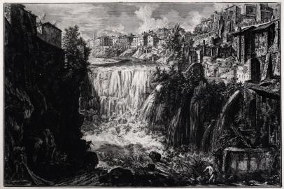 Veduta della Cascata di Tivoli; The Waterfall at Tivoli