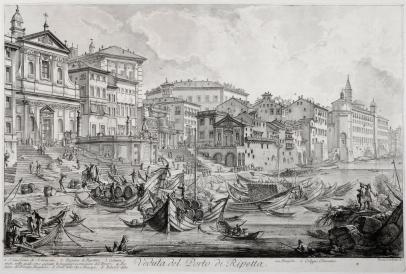 Veduta del Porto di Ripetta
