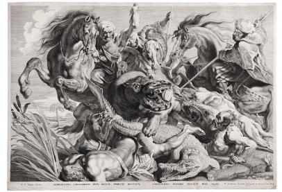 Soutman, A Crocodile and Hippopotamus Hunt
