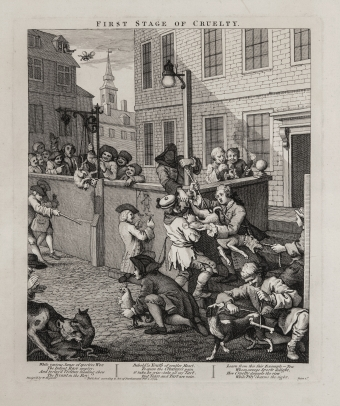 The Four Stages of Cruelty, the complete set of four etchings and engravings