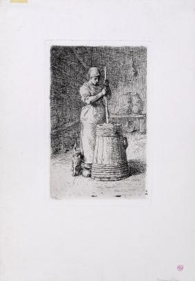 Jean-François Millet, La Baratteuse