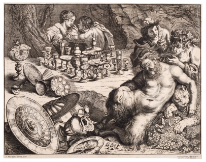 van de Wyngaerde, Bacchus and Drunken Silenus (after Rubens)